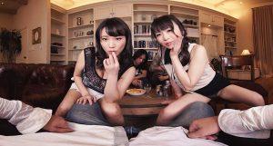 【素人】夫が寝てる隣で他人棒摘み食い淫乱NTR妻SEX-羽月希・澁谷果歩1