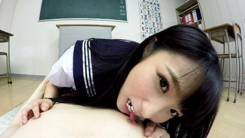 【栄川乃亜】キスとヨダレと手コキ責め、おまけにフェラと乳首責め ver女子高生3
